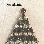 WONDERFUL Vintage *Swoboda* Christmas Tree Pin - Book Piece