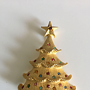 Beautiful Vintage MYLU Christmas Tree Pin - Book Piece