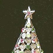 BEAUTIFUL Signed *MYLU* Christmas Tree Pin - Book Piece