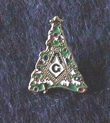 Unique and Wonderful Masonic Christmas Tree Pin