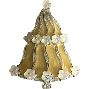 "Fabulous LIA Christmas Tree Pin - ""Birthday Cake"""