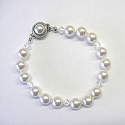 White Swarovski Pearl and Crystal Bracelet