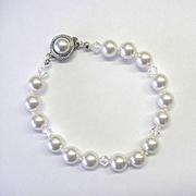 White Swarovski Pearl and Crystal Bracelet