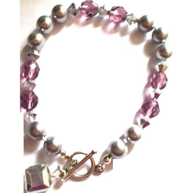 Swarovski Pearl/Crystal Bracelet