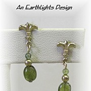 Petite Green Tourmaline Dangle Earrings