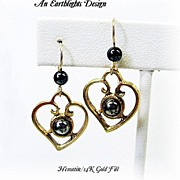 "Hematite ""Heart"" Earrings"