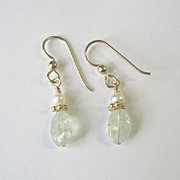 Petite, Dainty Aquamarine Earrings