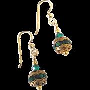 Green Crystal/Rhinestone Earrings