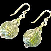 BEAUTIFUL Green Dangle Earrings