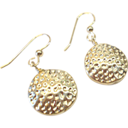Dangling Sterling Silver Disc Earrings