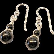 Small Hematite/Sterling Silver Earrings