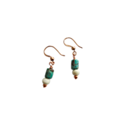 Petite Turquoise/White Bone Earrings