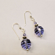 Tanzanite Swarovski Crystal Earrings