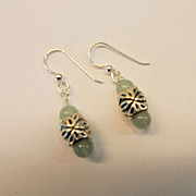 Aventurine/Ornate Sterling Earrings