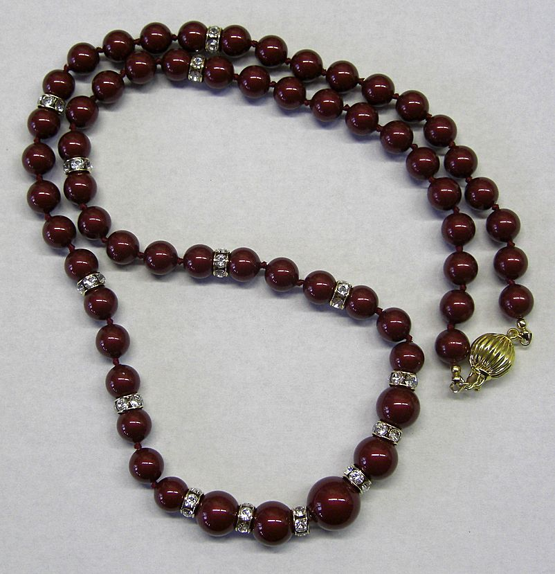 Swarovski Pearl and Rhinestone Necklace