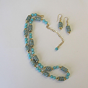 Pretty and Different Magnesite/Enamel Necklace