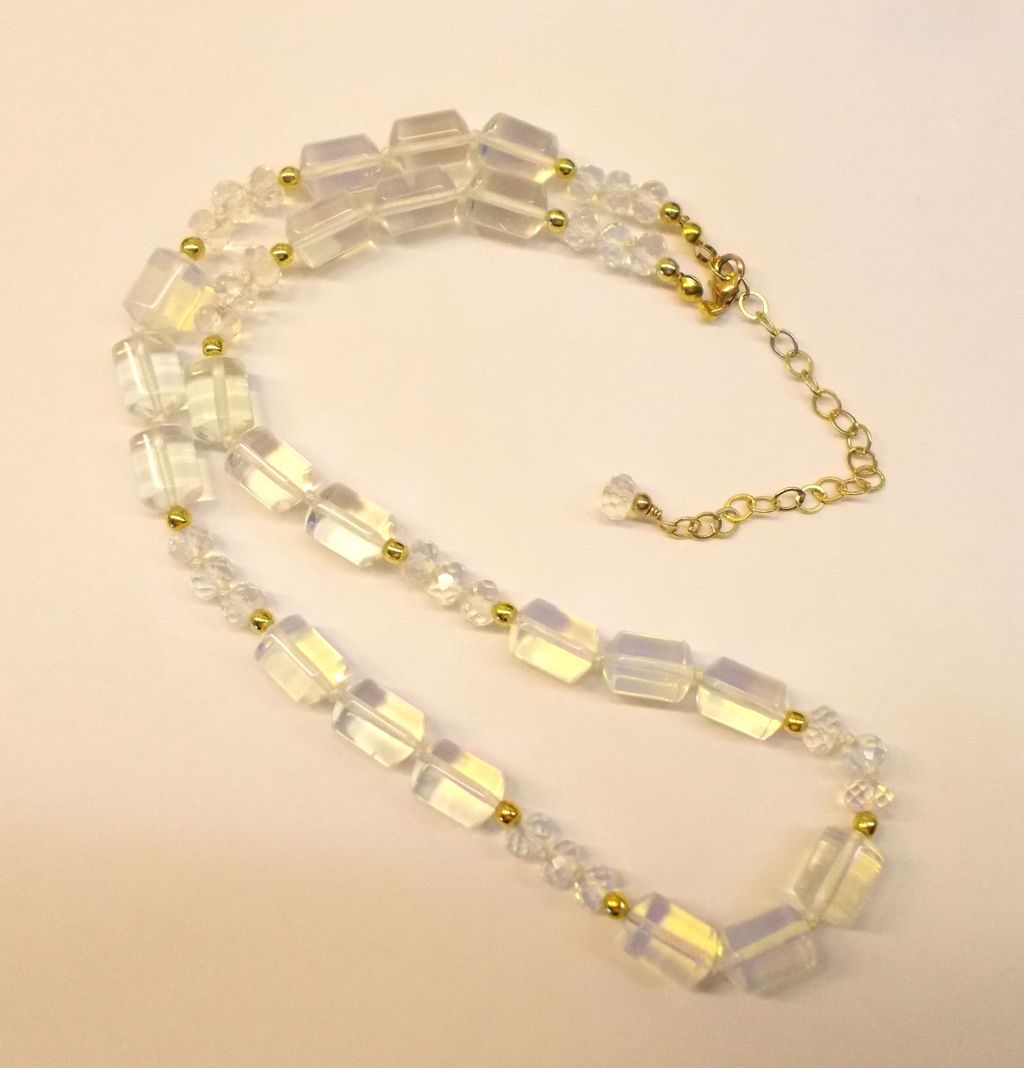 Shimmering Opalite Necklace