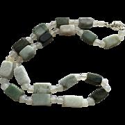 Wonderful Jade/White Agate Necklace