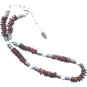 Red Horn and White Bone Necklace