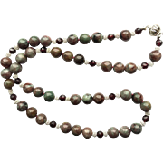 Beautiful Kashgar Garnet Necklace