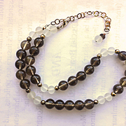 Beautiful Smoky Quartz/Frosted Quartz Necklace