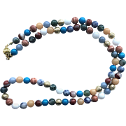 Colorful Multi-Gemstone Necklace