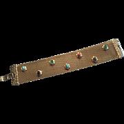 BEAUTIFUL Vintage Mesh Bracelet w/Stones