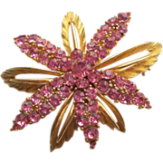 Gorgeous Rhinestone Signed LISNER Pin