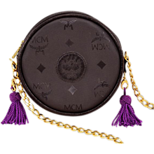 Stylish, Highly-Collectible Vintage MCM Evening Bag With Multi-Colored, Interchangeable Tassels