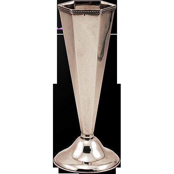 Rare Hirohito Miyamoto Japanese Sterling Silver Vase Gorgeous
