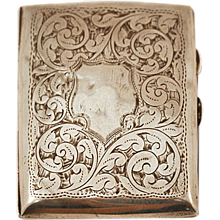ca 1918 WJ Myatt Sterling Silver .925 Sterling Silver English Card Case 90 gms