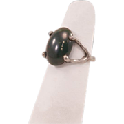 Dramatic Bloodstone Ring set in Sterling Silver .925