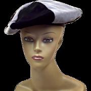 Daring Retro Fun Bloomingdale's New York Black and Grey Slouchy Hat