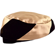 Glamazon Satin and Velvet Hat - Great Vintage Condition