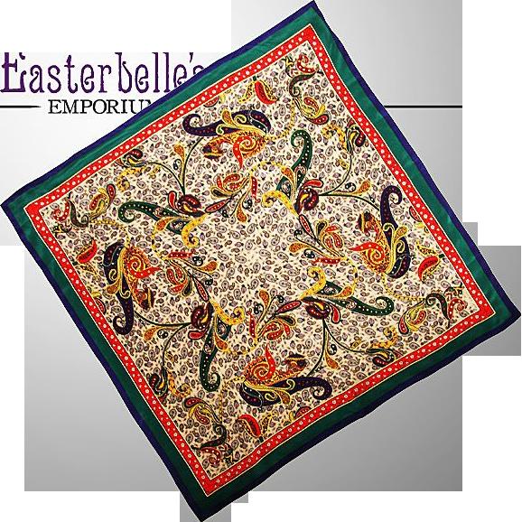 Vintage 100% Silk Oscar de la Renta Scarf Wonderful Colors