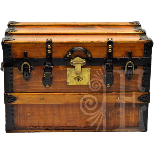 Statement Piece Vintage Salesman's Wooden Trunk
