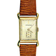 ca 1946 14K Gold Case Longines Wittnauer 14K Wristwatch with Rare Lugs