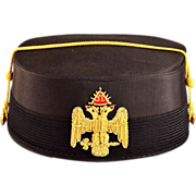 Historic Vintage 32nd Degree Masonic Cap