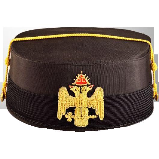 Historic Vintage 32nd Degree Masonic Cap