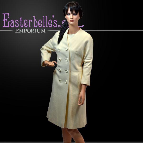 Stylish I. Magnin Matching Classic Coat and Dress Set