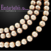 Classic Vintage Miriam Haskell 3-Strand Glass Pearl Necklace
