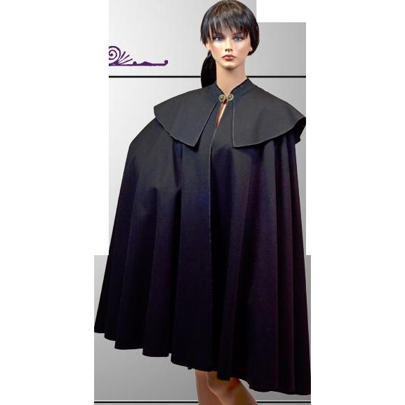 Dramatic El Corte Ingles of Spain Wool Reg and Black Cape