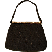 Elegant Walborg Fully Beaded and Inlaid MOP Evening Bag