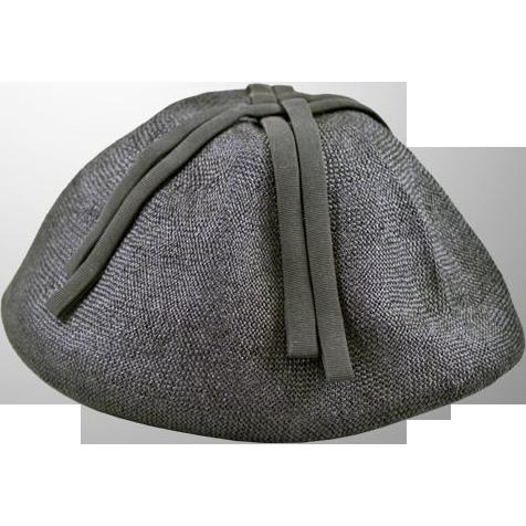 Hattie Carnegie for I. Magnin Navy-Blue Hat