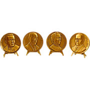 """Vintage """"Pathfinders in Psychiatry"""" Bronze Medallions Set"""