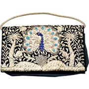 Beautiful Bohemian Embroidered Peacock Handbag