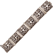Beautiful Bohemian .800 Silver Bracelet