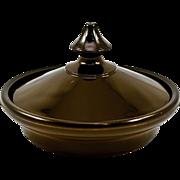 Ebony Black Vintage Cast-Glass Candy or Dresser Dish