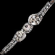 Glittery 1950s Unsigned Eisenberg Bracelet