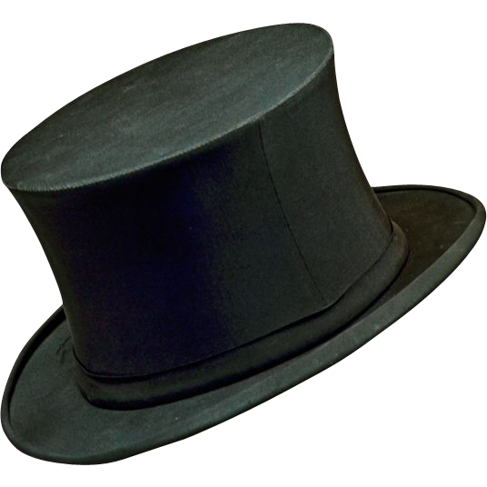 Elegant Antique Stetson 1800s Collapsible Top Hat